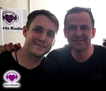 Scott Mills Chris Stark at Barts Radio bartsradio.london